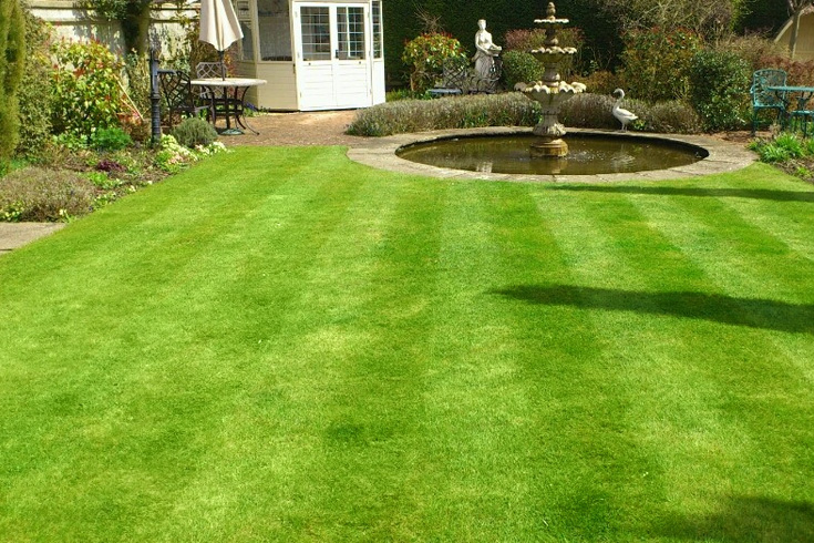 Mowing garden lawns